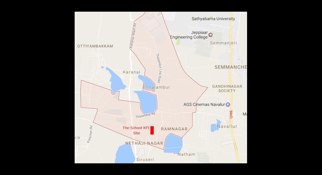The New School Campus Map.The New Campus The School Krishnamurti Foundation India